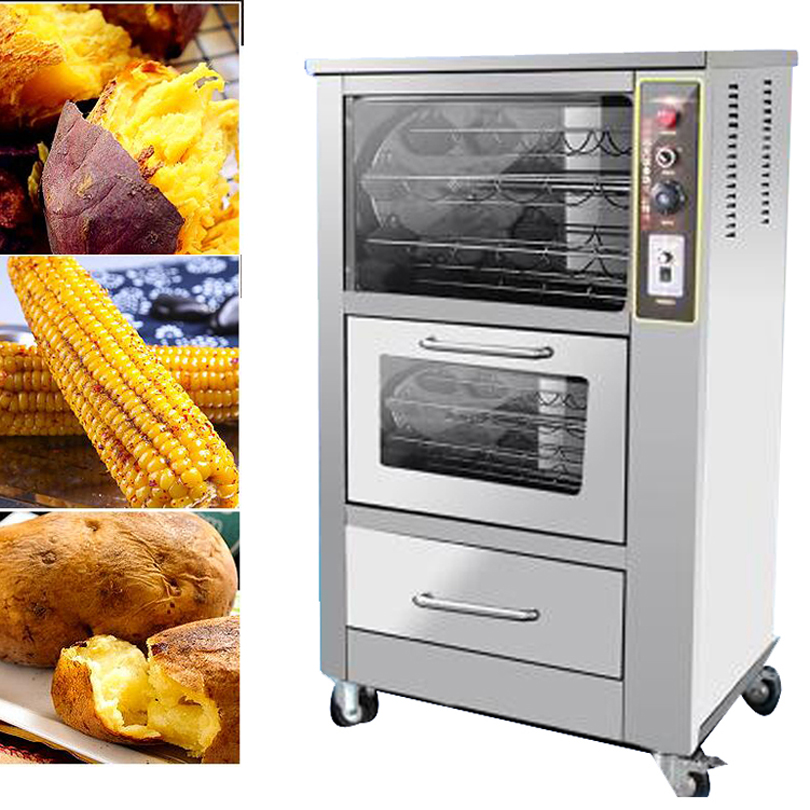 Commercial fresh corn roaster automatic sweet potato roasting machine intelligent grilled potato corn oven commercial roasted sweet potato baked corn machine baked sweet potato oven electric 1pc