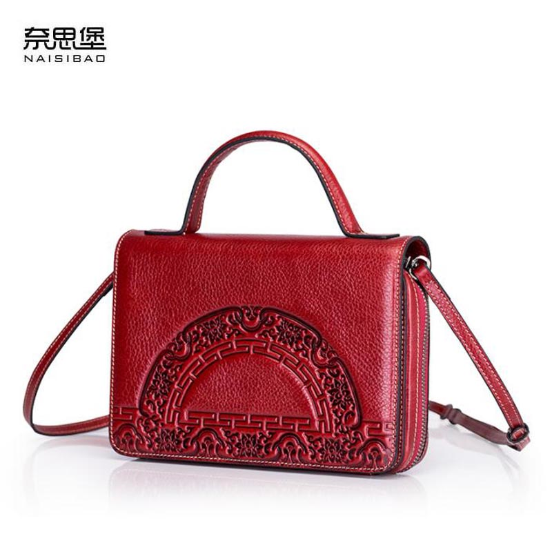 NAISIBAO2018 new small bag Messenger bag wild shoulder bag simple retro luxury fashion luxury high-end leather hand branded prod lkprbd 2018 high end custom design of the new big 100% leather bag with a bean bag fashion leather shoulder messenger bag small
