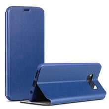 Pour Samsung Galaxy S8 Plus/Pour Samsung Galaxy S8 Cas X-Niveau D'affaires En Cuir PU + TPU Flip Cover Téléphone Protecteur Capa Funda