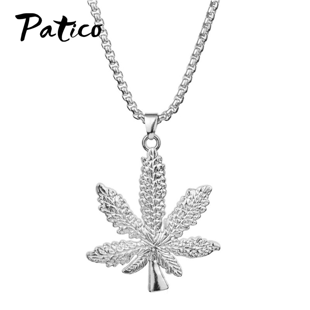 Hip Hop Tree Leaf Necklace For Women Men Party Pendants Necklaces Unisex Plant Jewelry Drop Shipping Collar Luxury Choker in Pendant Necklaces from Jewelry Accessories