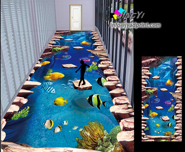 Customized 3d Floor Graphics Sticker Home Decoration In