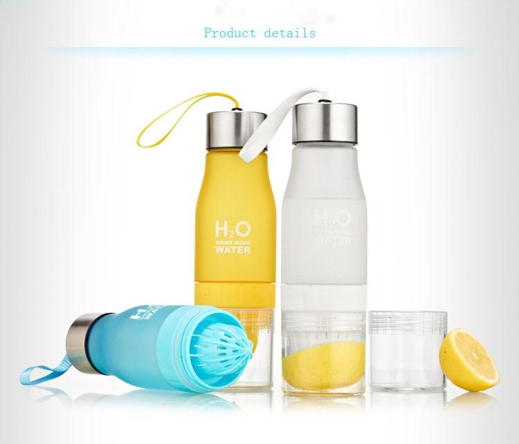 Xmas Gift 650ml Infuser Water Bottle Plastic Fruit Infusion Kids Drink Outdoor Sports Bottle Juice Lemon Portable Kettle