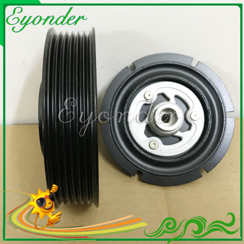 New AC A C Air Conditioning Compressor Electromagnetic Magnetic Clutch Pulley PV6 6PK for BMW X3