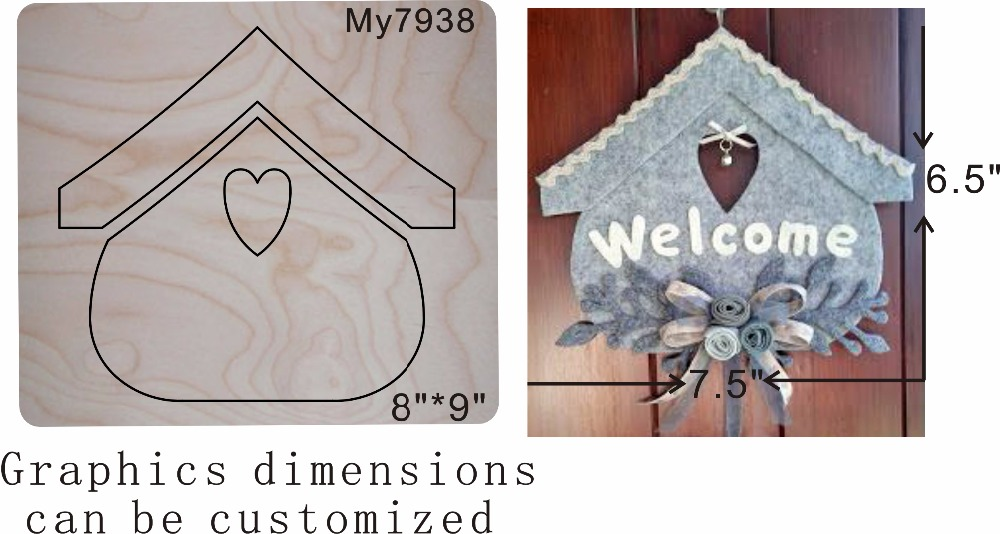 House family pendant new wooden mould cutting dies for scrapbooking Thickness 15 8mm