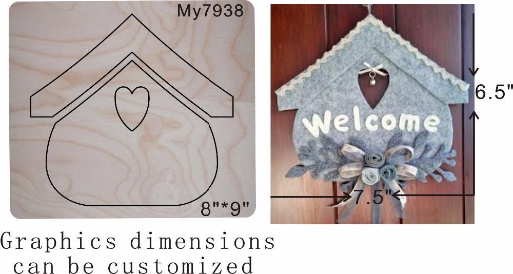 Haus familie anhänger neue holz form schneiden stirbt für scrapbooking Thickness 15.8mm MY7938-in Stanzmesser aus Heim und Garten bei  Gruppe 1