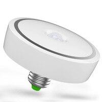 Akıllı PIR Kızılötesi Hareket Sensörü LED Indüksiyon Ampul E27 12 W Oto Anahtarı Tavan Işık Lambası Ev Otel Için