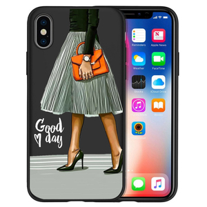 Image 5 - Fashion High heels Girl Flower Luxury Phone Case For Cover iphone X XS Max XR 6 7 8 Plus 5S SE Soft Case Cover Etui