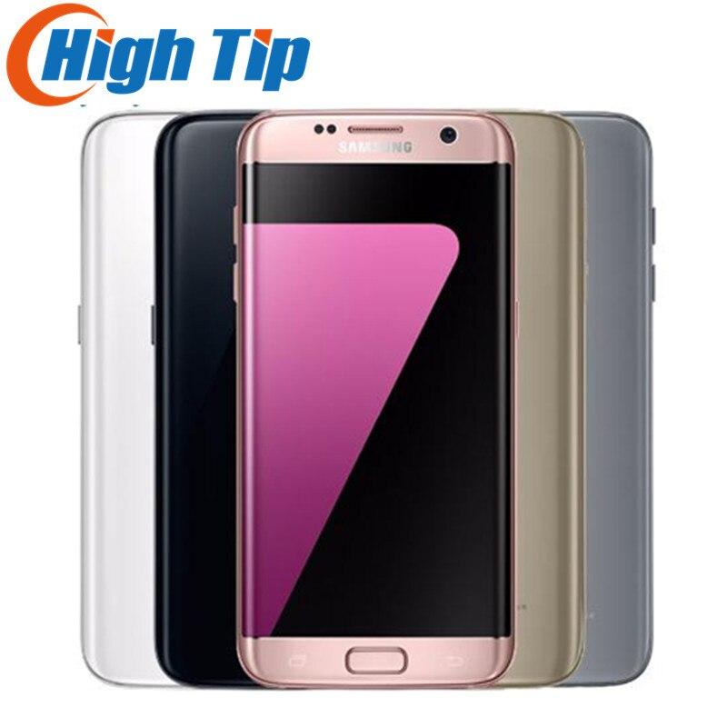 Original samsung galaxy S7 borde 2016 teléfono móvil 4 GB RAM 32 GB ROM Quad Core 5.5 pulgadas WiFi GPS 12MP 4G LTE 1 año