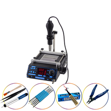 YIHUA 853AA Hot Air Gun IR Preheating Station High Power Multi-Functional Rework Stations With And Desoldering Welding Rework цена 2017