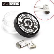 Coil Father Frame Staple Coil 3 Cores Wrap A1 Nichrome Wire Premade Coil Long Lasting Pure Taste for RDA Fused Clapton(China)