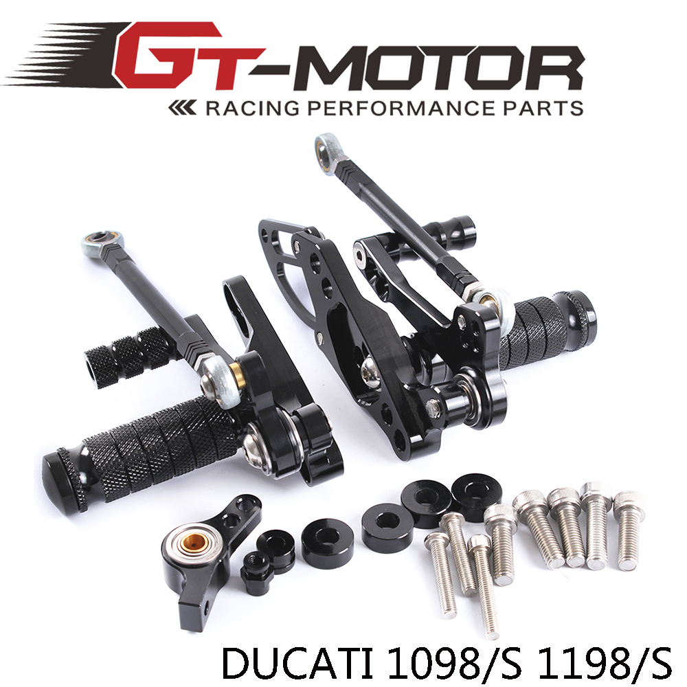ФОТО GT Motor -Full CNC aluminum Motorcycle Rearsets Rear Set For DUCATI STREETFIGHTER 1098/S 1198/S 2011-2014