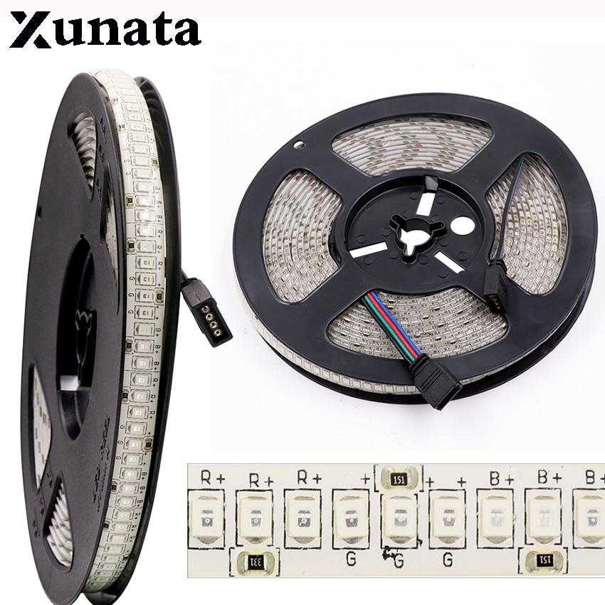 LED Strip 3528 240LEDs/m DC12V High Brightness 2835 Flexible LED Light RGB 5m/lot Waterproof novelty lighting
