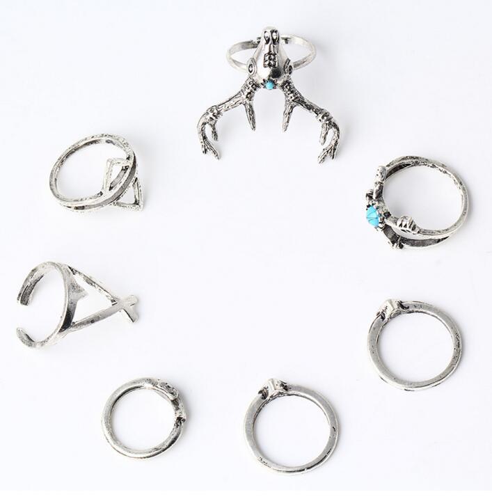 HTB1vPG4PXXXXXXEXFXXq6xXFXXXf 7-Piece Indian-Inspired Boho Ring Collection