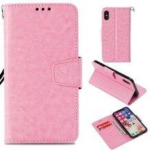 Флип-Чехлы для iphone X 6 7 8 plus, чехол-кошелек с подставкой, роскошный винтажный деловой чехол для телефона из искусственной кожи для iphone Xs max XR, чехол