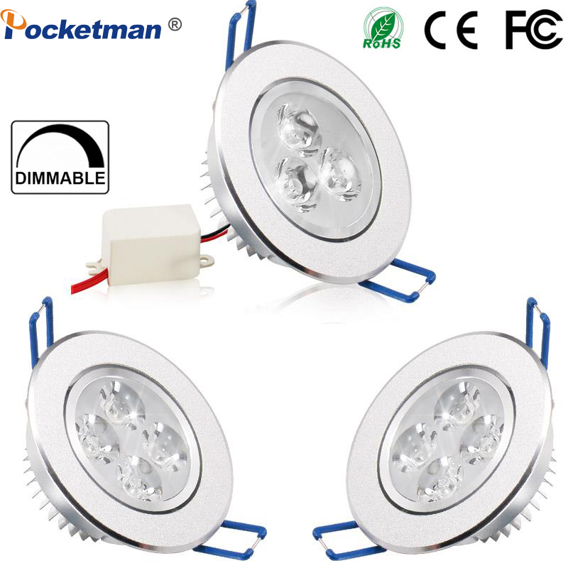Dimmable LED Ceiling Downlight 9W 12W 15W Led Downlight Round Recessed Lamp Bedroom Kitchen Indoor LED Spot Light AC 85-265V