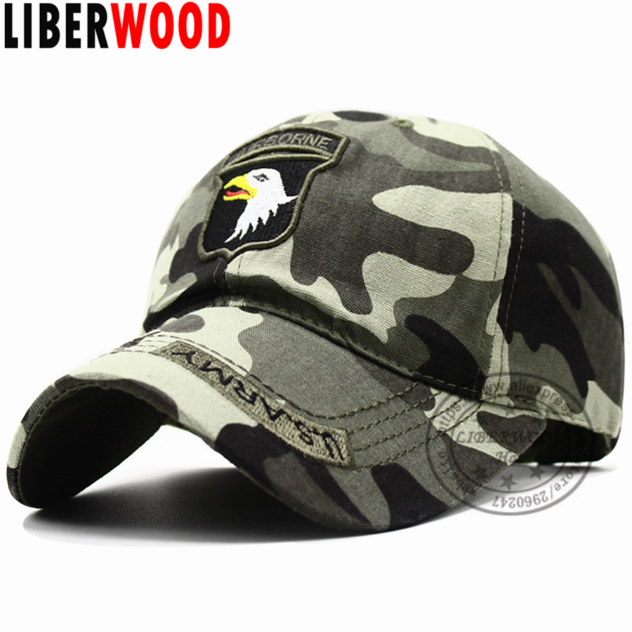 a7baf5e766bea US 101st Airborne Baseball Caps SCREAMING EAGLE Cap Air Force hats for Men  camouflage camo ARMY cap hats 54 58cm-in Baseball Caps from Apparel  Accessories ...