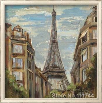 Landscape art abstract A Moment in Paris I Silvia Vassileva Paintings home decor Handmade High quality