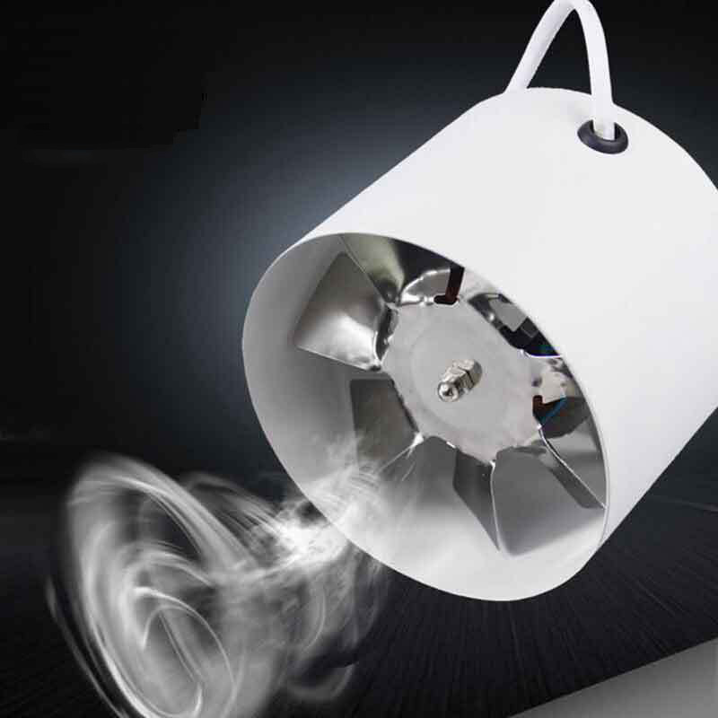 1pcs 4inch Inline Duct Fan Booster Exhaust Blower Air Cooling Vent Metal Blade цена