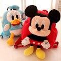 Venda quente dos desenhos animados brinquedos de pelúcia Mickey Minnie ponto Danald pato porco mochila mochila para crianças presente de aniversário