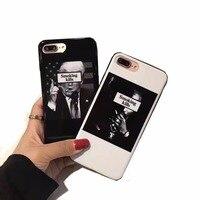 Luxury Black White Mirror Power Case For IPhone 6S 6 7 Plus Shell Soft Skin Fashion
