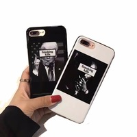 Luxury Black White Mirror Power Case For IPhone 6S 6 7 Plus Shell Soft Skin Fashion