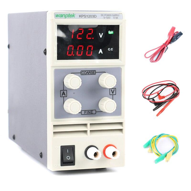 KPS1203D réglable haute précision double LED affichage interrupteur DC alimentation protection fonction 120V3A 110 V/220 V 0.1 V/0.01A EU