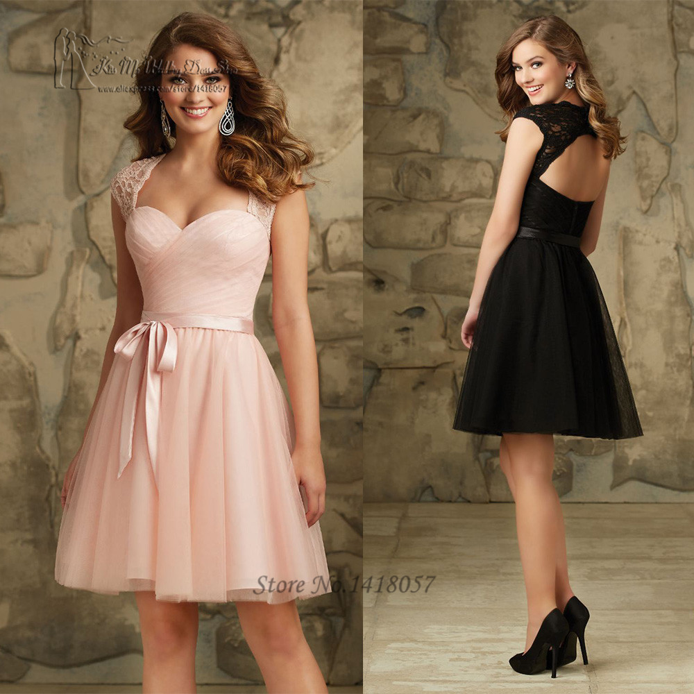 Aliexpress.com : Buy Pink Black Short Cheap Bridesmaid