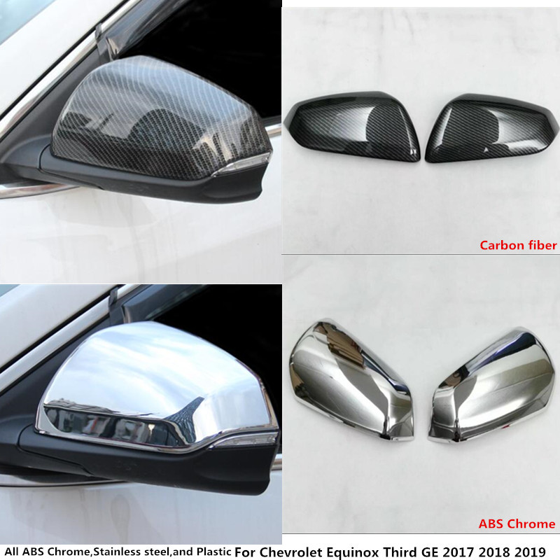 Hot sale Car decoration Rear view Rearview Side glass Mirror Cover trim frame 2pcs For Chevrolet Equinox Third GE 2017 2018 2019