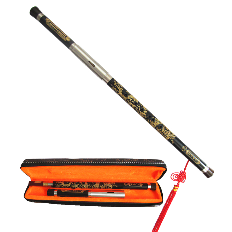 Professional Ebony Bawu Flute Carved Dragon Bau F / G Key Transversal Flauta Manual Calibration Tune Guaranteed SoundProfessional Ebony Bawu Flute Carved Dragon Bau F / G Key Transversal Flauta Manual Calibration Tune Guaranteed Sound