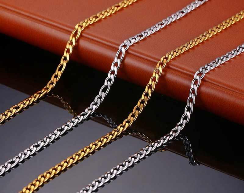 """Naszyjnik na łańcuszku z długimi ogniwami fajne mężczyźni Choker naszyjnik Chunky złoty kolor łańcuch 20 """"24"""""""