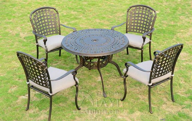 5 piece cast aluminum patio furniture garden furniture outdoor furniture - Cast Aluminum Patio Furniture