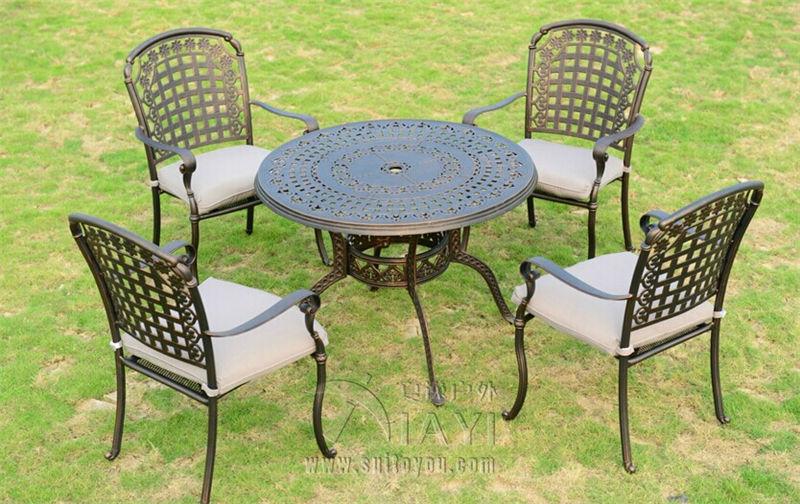 5 Piece Cast Aluminum Patio Furniture Garden Furniture Outdoor Furniture(China  (Mainland)