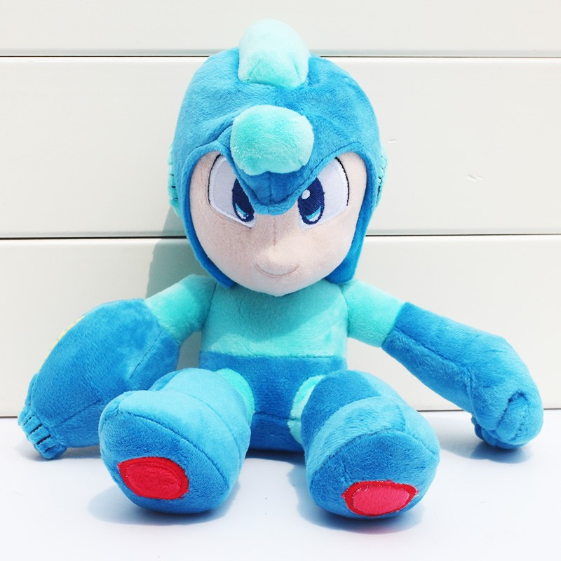 27cm Cosplay Anime Rockman Megaman Plush Soft Stuffed Doll Toys For Kids Birthday Gifts