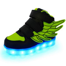 2017 Children Shoes With Light Boys And Girls Casual LED Shoes For Kids Sneakers Usb Charging
