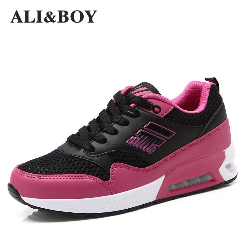 Али и мальчик бренд Для женщин Кроссовки Демисезонный спортивные Обувь для наружного удобные Для женщин Спортивная обувь дышащая Спортивн...