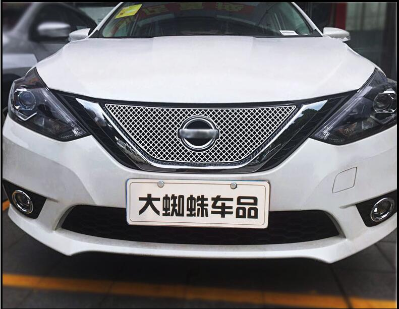 Stainless Steel Car Racing Grills For Nissan Sentra 2012-2016 Sylphy Front Grill Grille Cover Trim Car styling