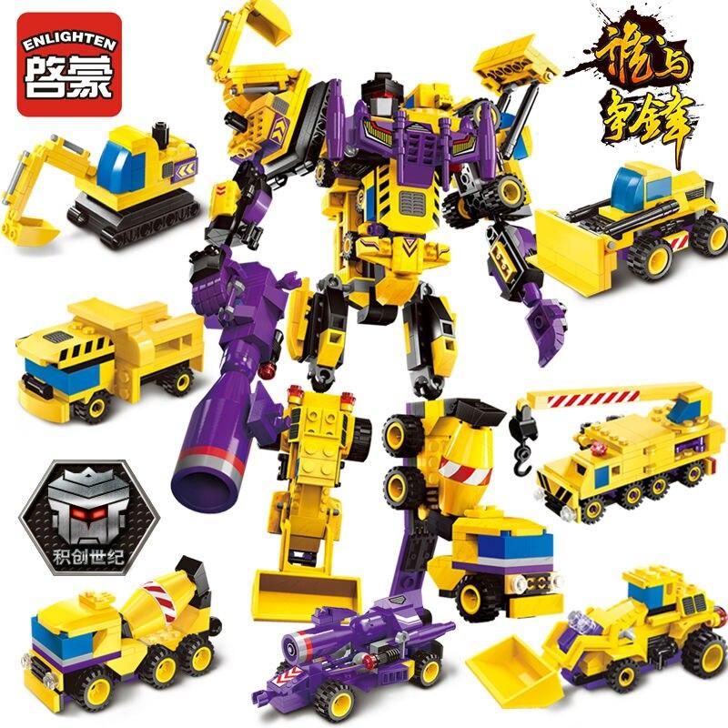 7IN1 Transformador Robô Mars Deus Criador de Guerra ILUMINAI Blocos de Construção Luta Set LegoINGs Tijolos Brinquedos Educativos para Crianças