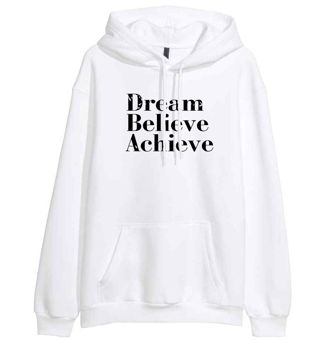 DREAM BELIEVE ACHIEVE Print Letter Female Sweatshirt 2019 New Hot Sale Hoodies For Women Spring Winter Pullover Hoody Kawaii
