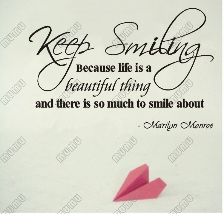 Marilyn Monroe Quote Keep Smiling Because Life Is