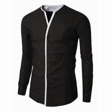 Casual Shirts Long Sleeve Tuxedo Mens Clothing Imported Designer Brand Tommis Fashion Brand Men's Shirt Social Business C203