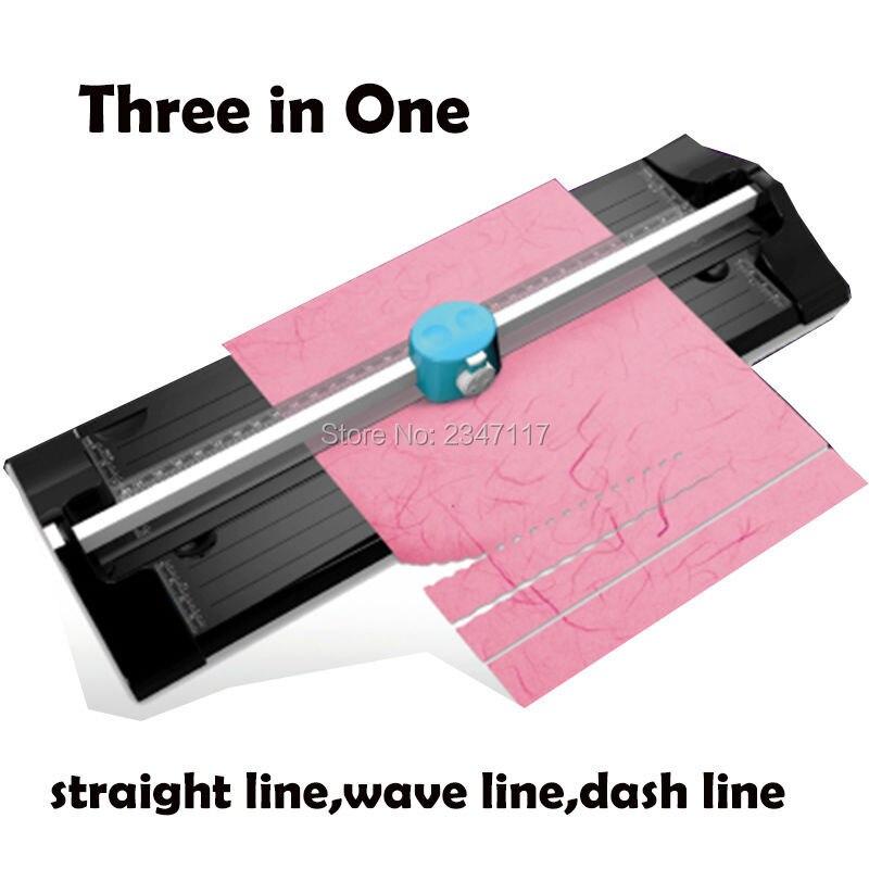 Free Ship3 IN 1 Multifunctional Roller Machine Paper Cutter Cut ...