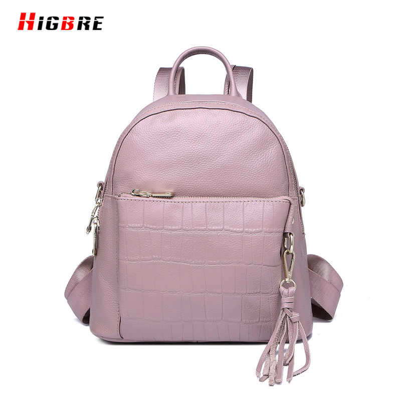 ФОТО 2017 Fashion Leather Genuine Small Size Backpack Women Famous Brands School Girls Bags Shoulder Bag Crocodile Pattern Embossed