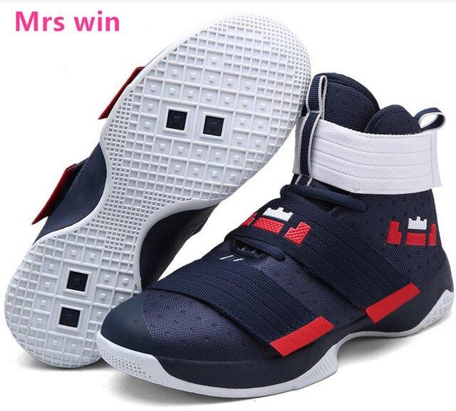 385e36bdce4 Pria dan Wanita Sepatu Basket Lebron James Keranjang Luar Lapangan Olahraga  Sepatu Super Star Lebron Sneaker