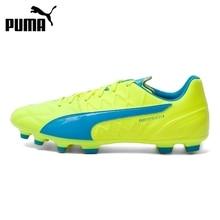 Original Puma evo SPEED 3.4 Lth AG Men's Soccer Shoes Football Sneakers