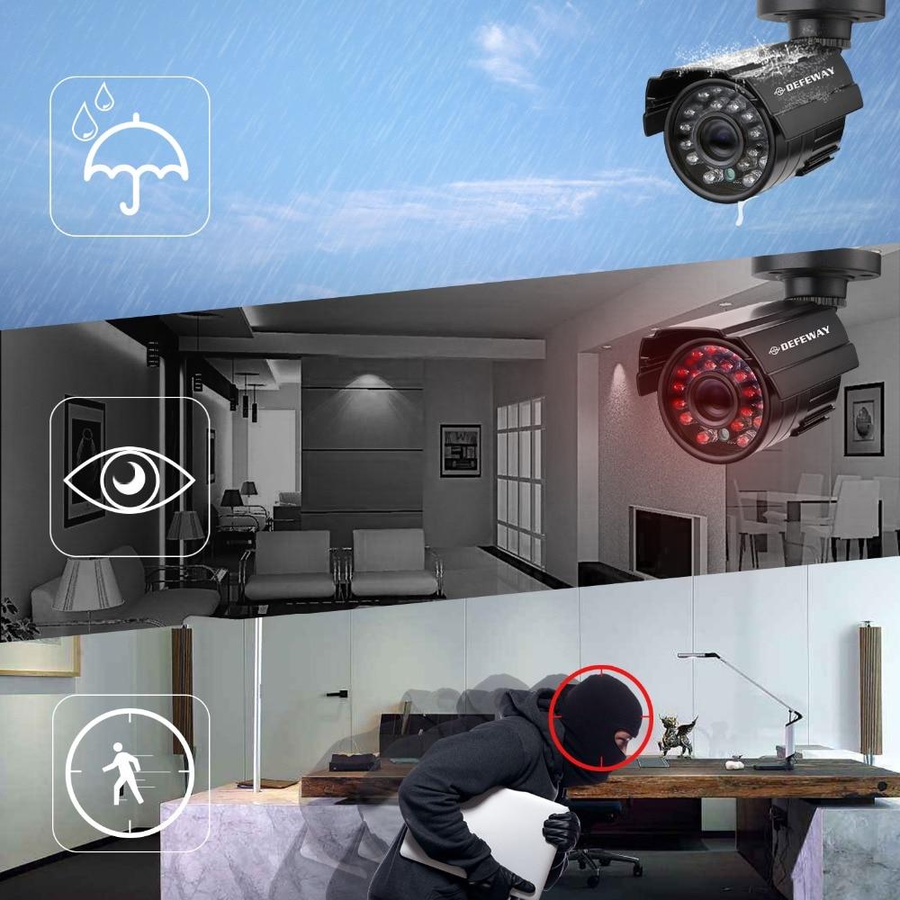 DEFEWAY 8 1200TVL 720P HD lauko vaizdo stebėjimo kamerų sistema - Sauga ir saugumas - Nuotrauka 6