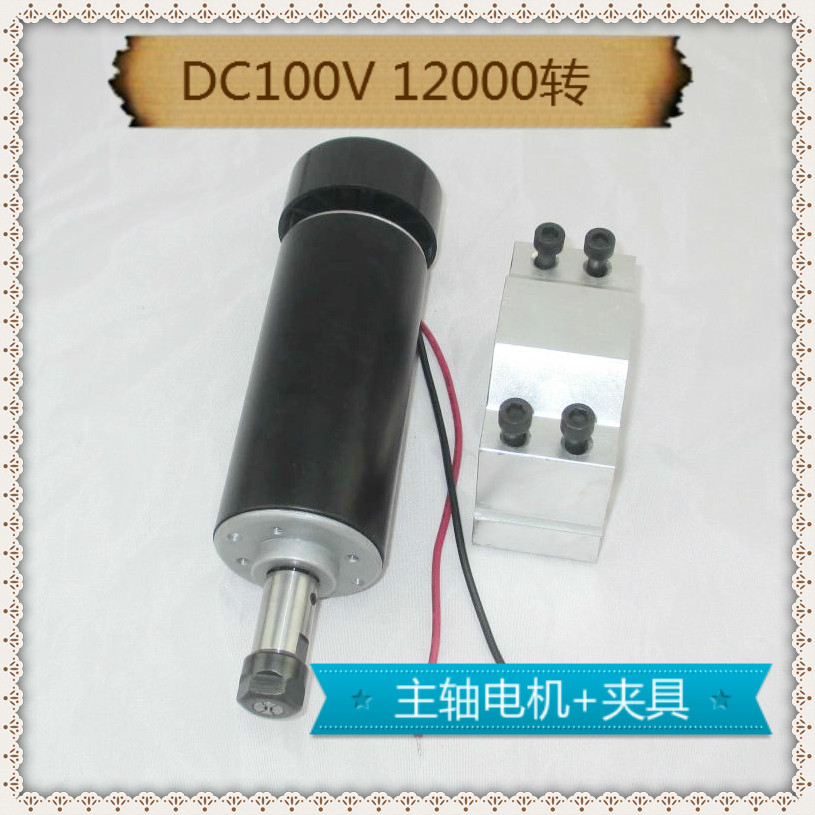 Top 500W ER11 collet 52mm diameter DC 0-100 CNC Carving Milling Air cold Spindle Motor For Engraving runout less than 0.01 mm dc48v 400w 12000rpm brushless spindle motor air cooled 529mn dia 55mm er11 3 175mm for cnc carving milling