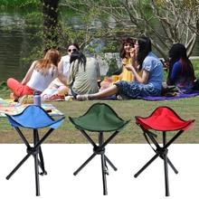 Ultralight Outdoor Fishing Chair Portable Tripod Stool Camping Picnic Garden Foldable Three Feet Beach Small D35