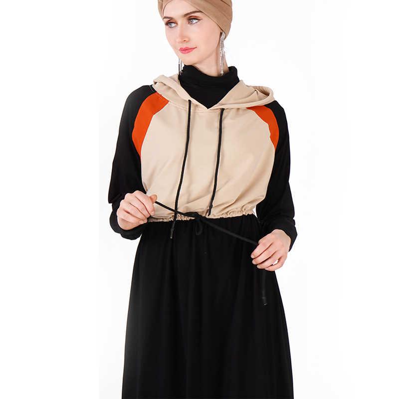 Primavera di Sport Caftano Abaya Dubai Hijab Musulmano Dress Turchia Jilbab Caftano Ramadan Abaya Per Le Donne Elbise Turco Abbigliamento Islamico
