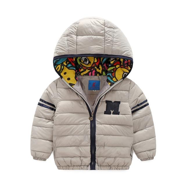 Бренд дизайн детские мальчики девочки ватник 2016 зимой дети ватные пальто с капюшоном куртки хлопка-ватник тепловой верхняя одежда вниз