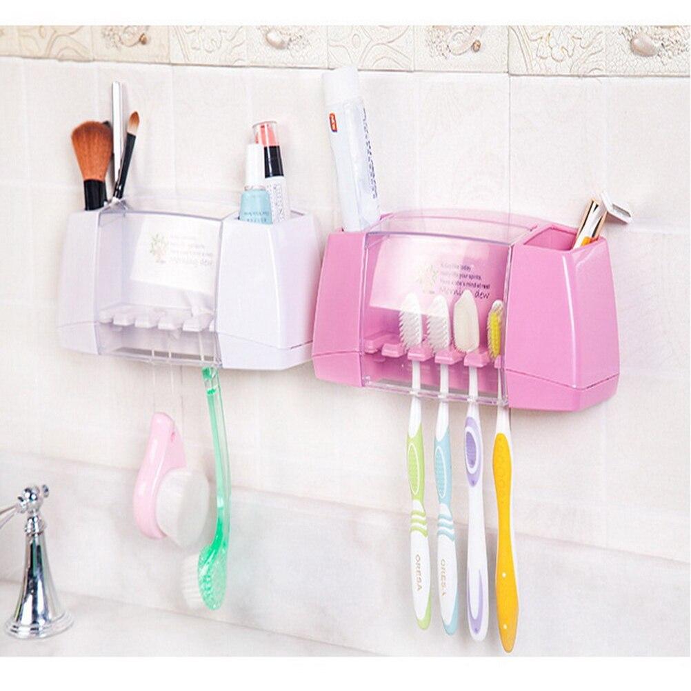 Plastic Dust Proof Toothbrush Holder Bathroom Kitchen